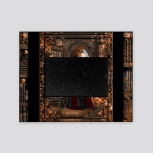 Witch in Library Picture Frame