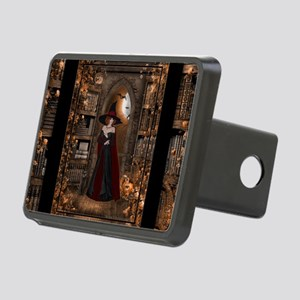 Witch in Library Rectangular Hitch Cover
