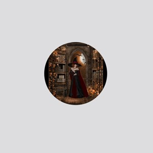Witch in Library Mini Button