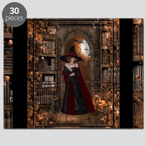 Witch in Library Puzzle