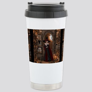 Witch in Library Stainless Steel Travel Mug