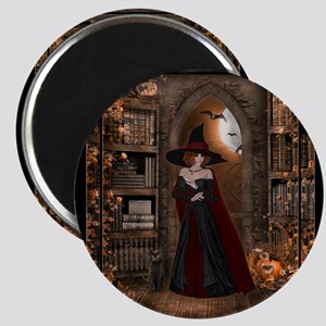 Witch in Library Magnet