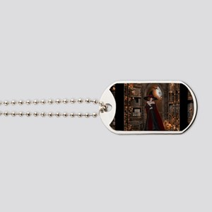 Witch in Library Dog Tags