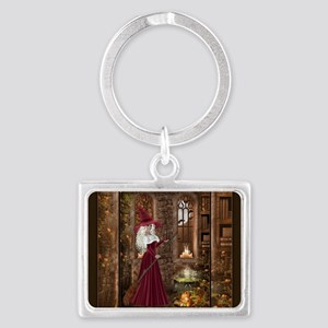 Witch with Candle Landscape Keychain