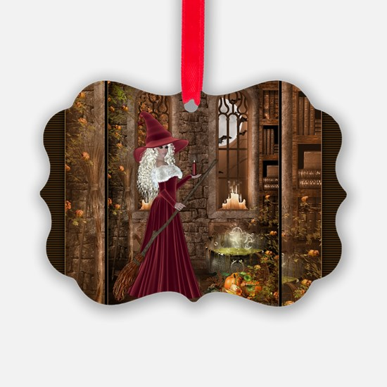 Witch with Candle Ornament