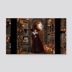 Witch in Library Rectangle Car Magnet