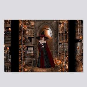 Witch in Library Postcards (Package of 8)