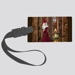 Witch with Candle Large Luggage Tag