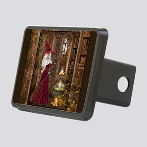 Witch with Candle Rectangular Hitch Cover