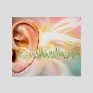 Tinnitus, conceptual artwork Throw Blanket