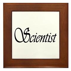 Scientist Framed Tile