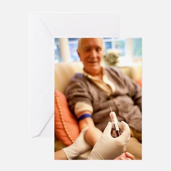 Taking a blood sample Greeting Card