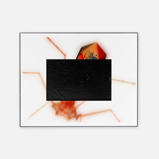 T4 bacteriophage virus, computer art Picture Frame