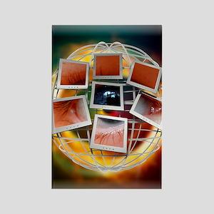 Surveillance, conceptual artwork Rectangle Magnet