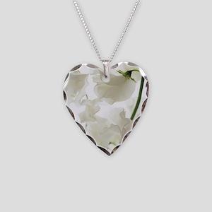 Sweet pea (Lathyrus odoratus) Necklace Heart Charm