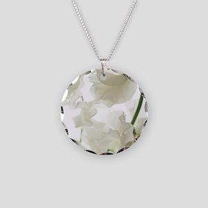 Sweet pea (Lathyrus odoratus Necklace Circle Charm