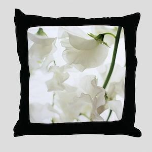 Sweet pea (Lathyrus odoratus) Throw Pillow