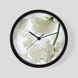 Sweet pea (Lathyrus odoratus) Wall Clock