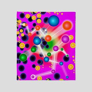 Subatomic particles, artwork Throw Blanket