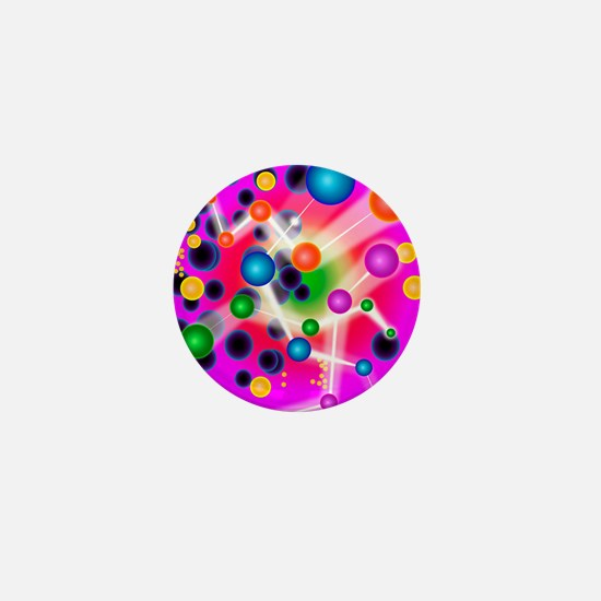 Subatomic particles, artwork Mini Button