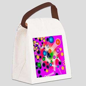 Subatomic particles, artwork Canvas Lunch Bag