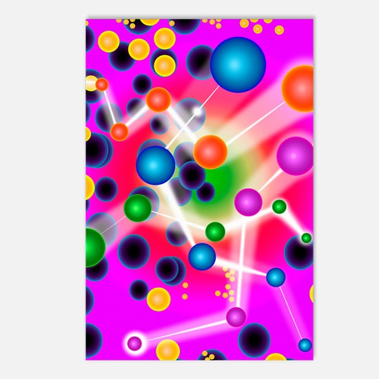 Subatomic particles, artw Postcards (Package of 8)