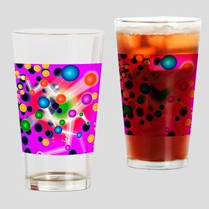 Subatomic particles, artwork Drinking Glass