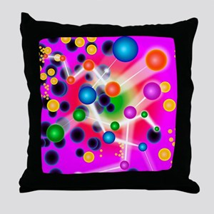 Subatomic particles, artwork Throw Pillow