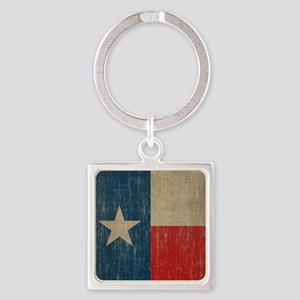 Vintage Texas Square Keychain