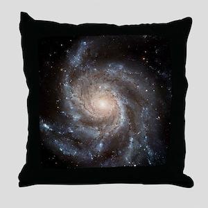 Spiral galaxy M101 Throw Pillow