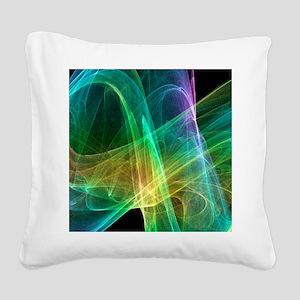 Strange attractor, artwork Square Canvas Pillow