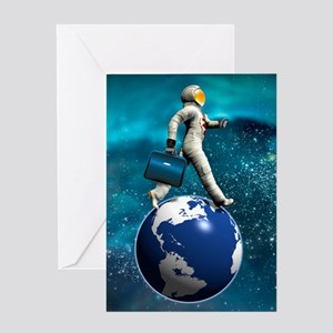 Space tourist, conceptual artwork Greeting Card