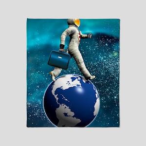 Space tourist, conceptual artwork Throw Blanket