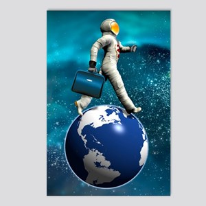 Space tourist, conceptual Postcards (Package of 8)