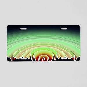 Sound byte, 3D-artwork Aluminum License Plate