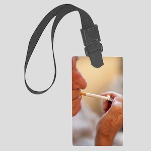 Smoking Large Luggage Tag
