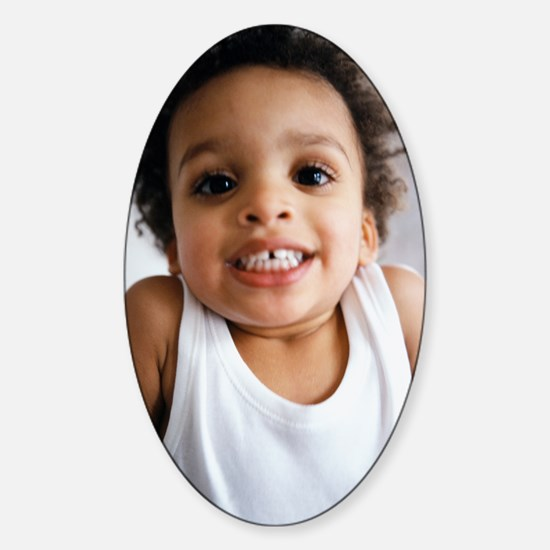 Smiling boy Sticker (Oval)