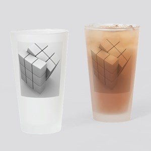 Rubik's cube, artwork Drinking Glass