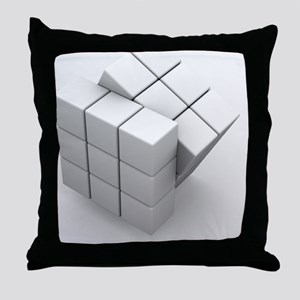 Rubik's cube, artwork Throw Pillow
