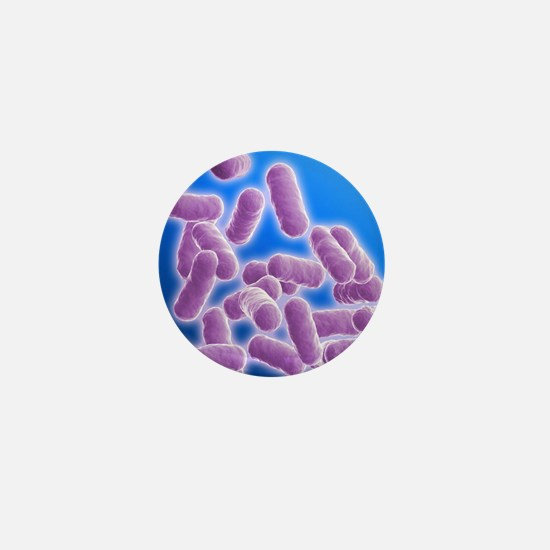 Rod shaped bacillus bacteria Mini Button