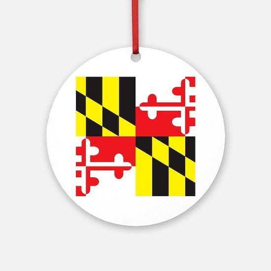 Maryland Flag Round Ornament