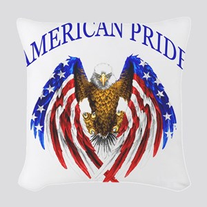 American Pride Eagle Woven Throw Pillow