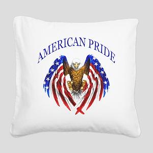 American Pride Eagle Square Canvas Pillow