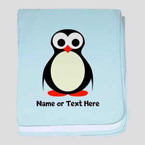 Penguin Personalized baby blanket