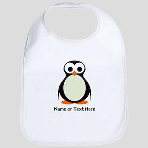 Penguin Personalized Cotton Baby Bib