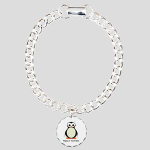 Penguin Personalized Charm Bracelet, One Charm