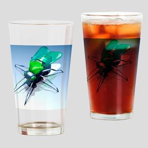 Robotic fly, artwork Drinking Glass