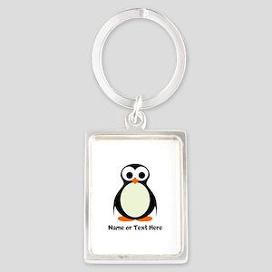 Penguin Personalized Portrait Keychain