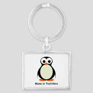 Penguin Personalized Landscape Keychain