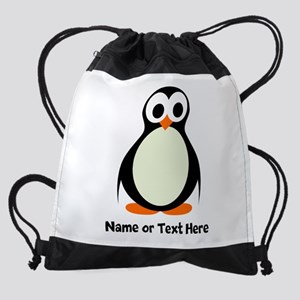 Penguin Personalized Drawstring Bag